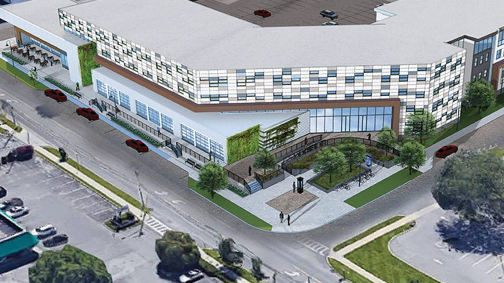 architect's rendering of south broadway location