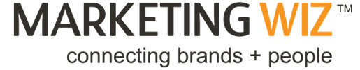 Marketing Wiz logo: connecting brands and people